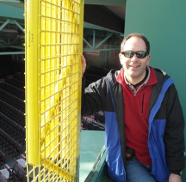 "At Fenway Park's ""Fisk Pole."""